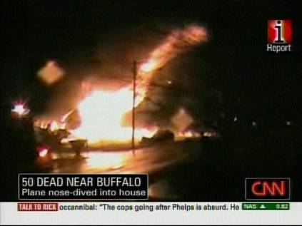 Fiery crash in Buffalo